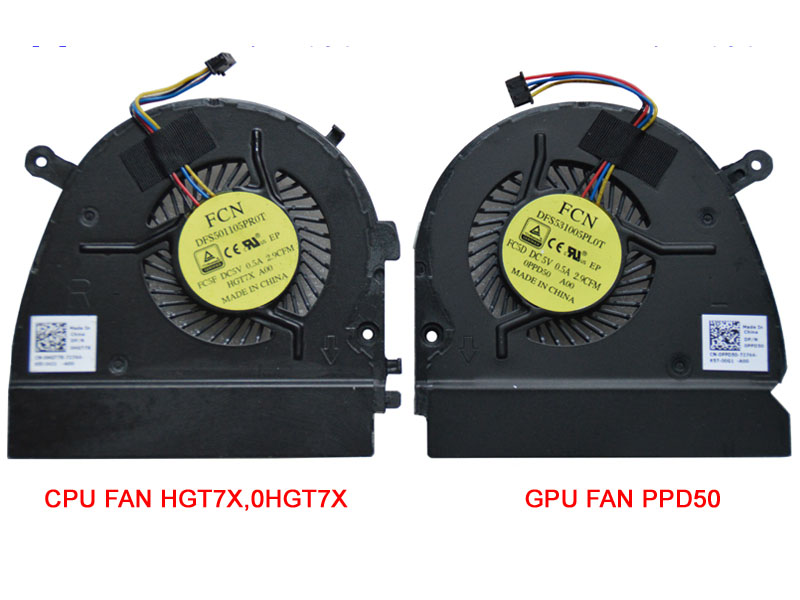Dell Vostro 5460 5470 Laptop CPU Fan, Left & Right Side A Pair Fan