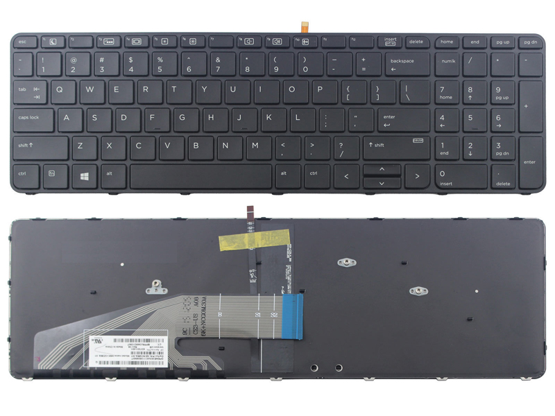 HP Probook 450 G3 455 G3 470 G3 Laptop Keyboard, With Backlit With Frame